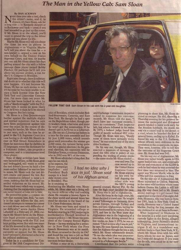 Article in New York Sun for June 30, 2004 by Dan Ackman