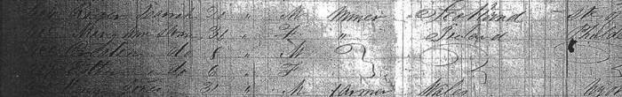 Passenger Manifest showing arrival of Creaton Sloan in America