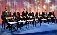 The Candidates ready for the debate