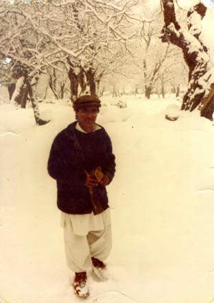 Abdul Khaliq near his home in Bumboret, Chitral, Pakistan
