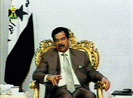 Which one is Saddam Hussein?