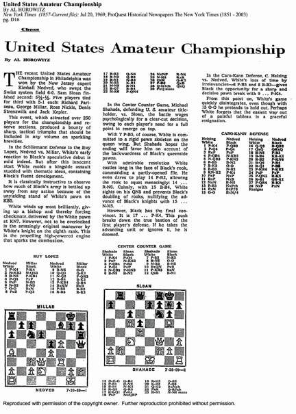 Chess in The New York Times