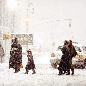 The blizzard on December 30, 2000