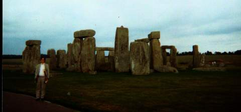 Sam Sloan at Stonehenge in England. Photo credit: Kayo Kimura