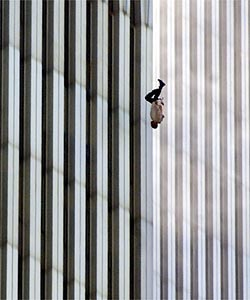 Man falling from the World Trade Center