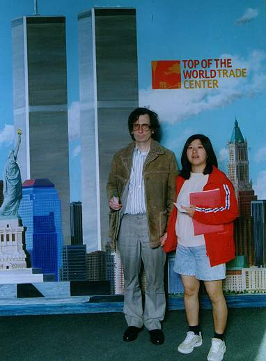 Sam and Kayo at the Top of the World Trade Center
